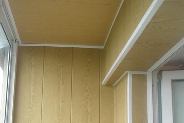 Как обшить балкон своими руками панелями мдф 506