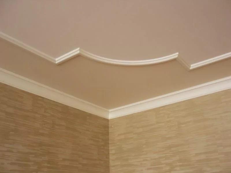 Как сделать узор на потолке пенопластом