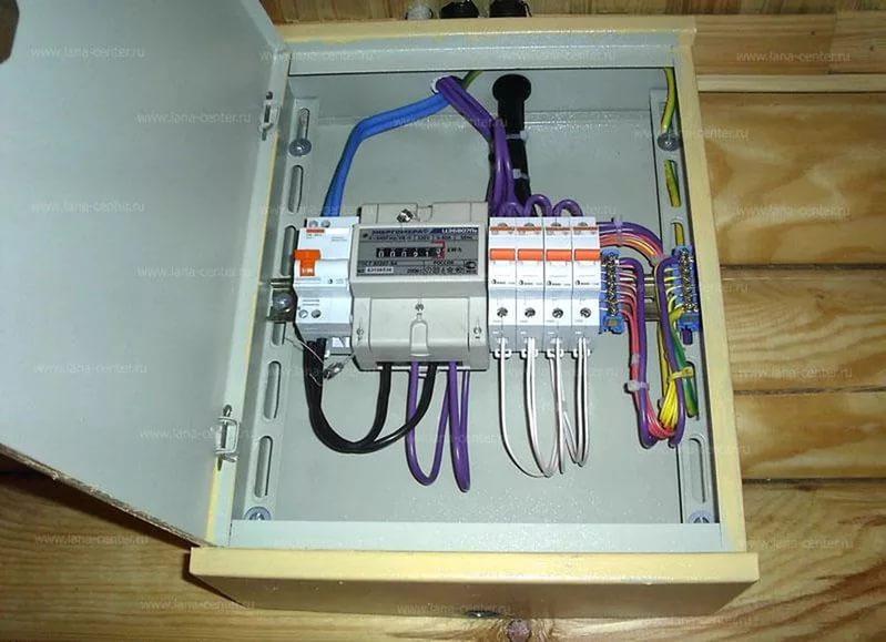 подключение электрического ящика