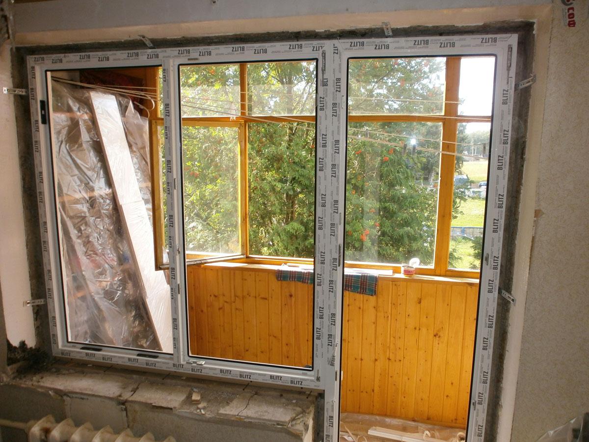 Балконная дверь монтаж.